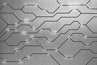 科技线条与金属背景图片