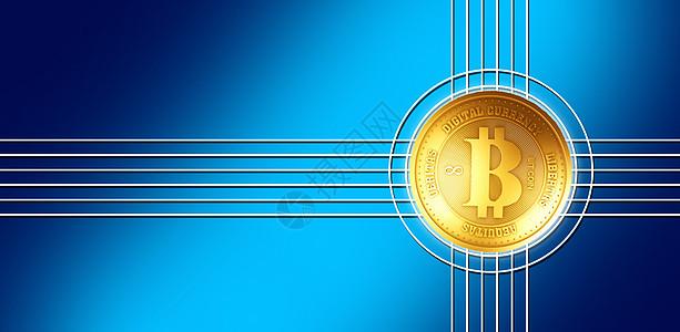 蓝色金融背景图片