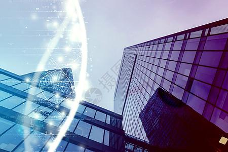 大厦科技感背景图片