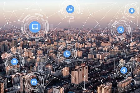 城市网络科技图片