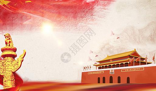 天安门红色背景图片