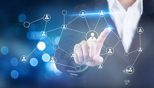 商人与社会网络结构的概念图片