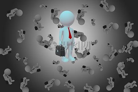 商务小人的独特性背景图图片