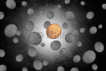 商务金币的独特图片