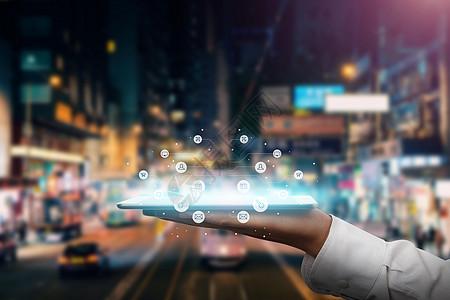 智能设备与城市的信息联系图片