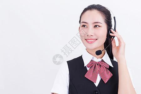 职业美女客服接听电话图片