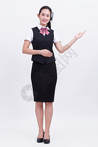 商务亲和职业女性客服全身照图片