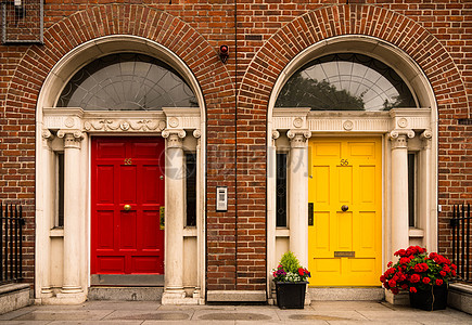 欧式房屋建筑门框高清图片