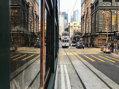香港街头电车图片