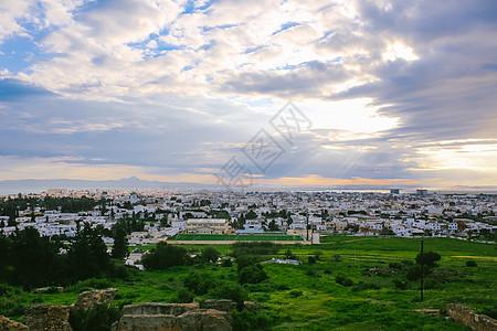 北非明珠突尼斯迦太基遗址耶稣光图片