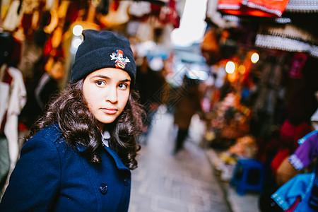 北非明珠突尼斯人文女孩图片