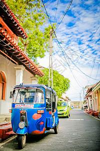斯里兰卡加勒古城街景图片