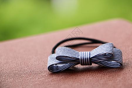 静物蓝色条纹发饰发带图片