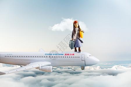 天空上的模型飞机图片