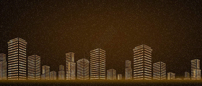 金色建筑大气背景图图片