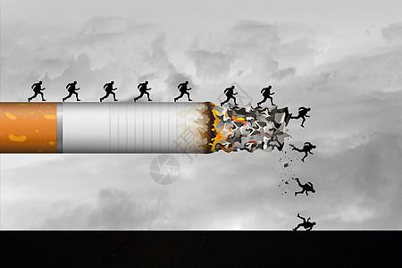 吸烟的危害图片