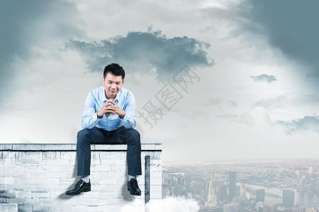 坐着商务人士图片