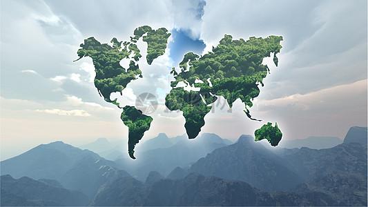 倡导世界环保地图图片