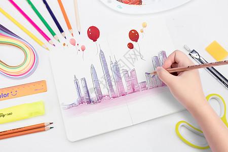 美术学习场景绘画图片