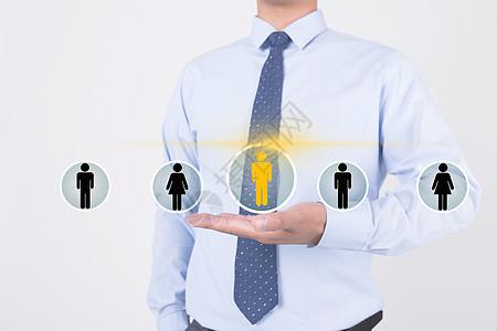 商务招聘概念背景图片