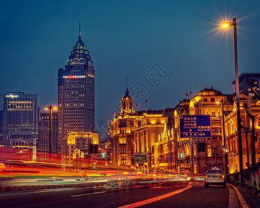 上海外滩车水马龙图片