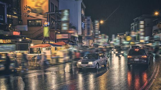 雨后的街道图片