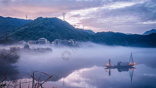 意境渔村图片