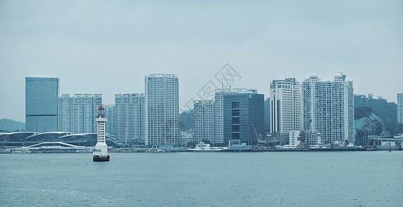 厦门海边灯塔图片