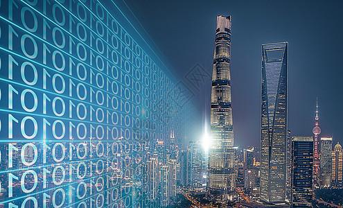 城市建筑信息发散图片