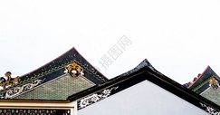 传统古建筑屋顶图片