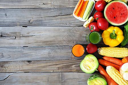 很多新鲜的蔬菜和水果图片
