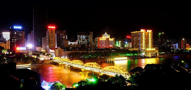 兰州中山桥夜景图片