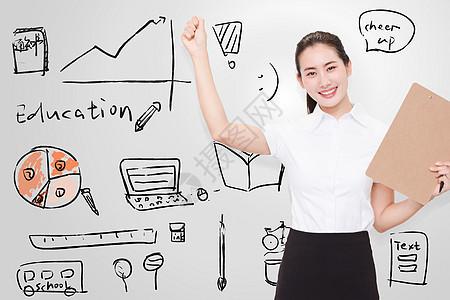 职业美丽女性教育培训商业图片