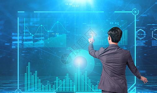 在web界面中的商人触摸虚拟按钮图片