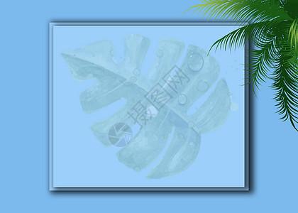 双层淡蓝色式背景图片