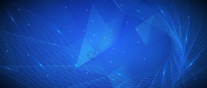 酷炫几何科技banner背景图片