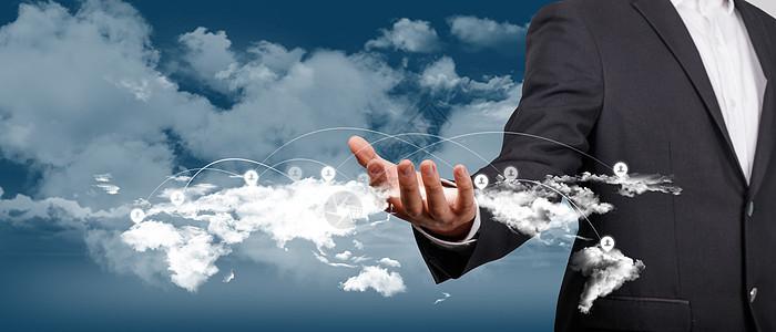 云计算科技banner背景图片