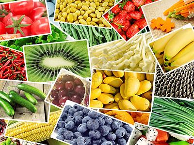 蔬菜水果拼图图片