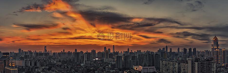 武汉城市高楼夜景图片