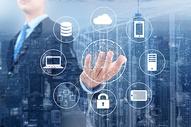 商人连接网络和设备图片