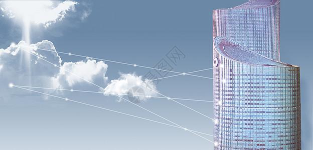 高楼数据云图片