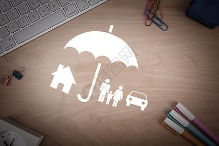 保险之剪纸图片