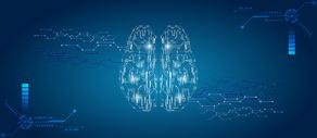 大脑科技电路背景图片