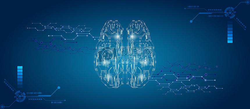大脑科技电路背景