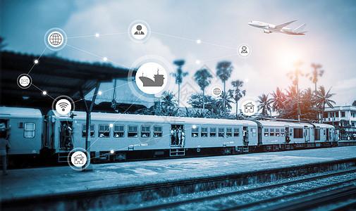 交通运输物流科技图片