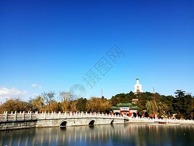 北京北海白塔图片