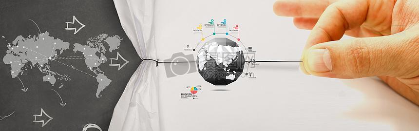 科技地图地球图片