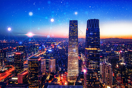 夜色中的大楼图片