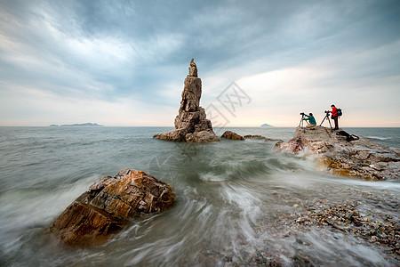 拉丝海浪摄影人图片