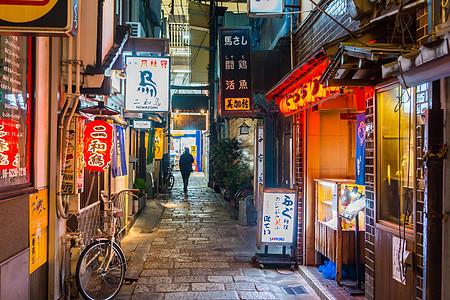 日本街道夜景居酒屋图片